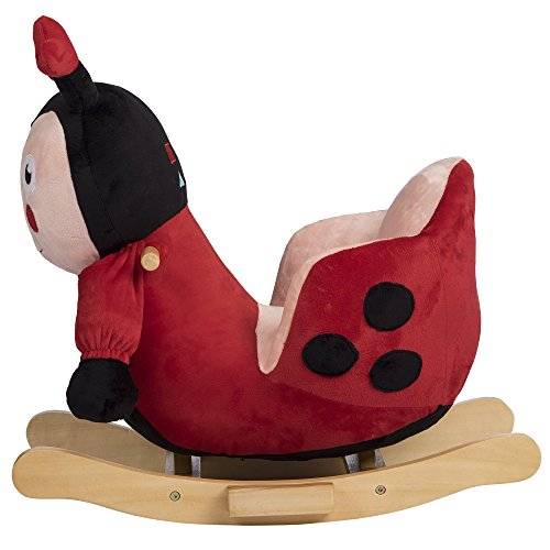 Rockin' Rider Lala The Ladybug Baby Rocker Plush Ride-On, Red by Rockin' Rider (Image #4)