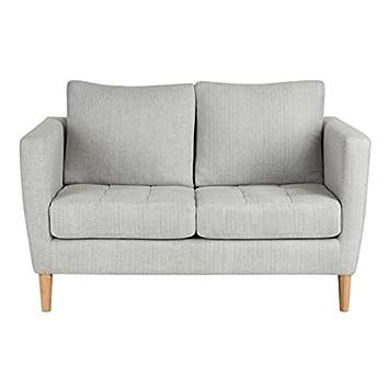 sofá escandinavo diseño 2 plazas de tela sofá de salón estar ...