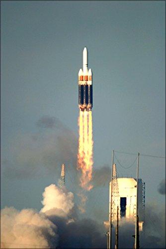 24x36 Poster . Boeing Delta Iv Heavy Launch Vehicle Rocket Cape ()