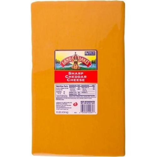 Land O Lakes Yellow Sharp Cheddar Cheese, 10 Pound -- 1 each.