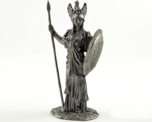 Greek goddess Athena metal sculpture. Collection 54mm (scale 1/32) miniature figurine. Tin toy soldiers ()