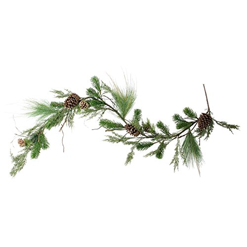 5' Artificial Pine Cones and Mixed Pine Needles Christmas Garland - Unlit