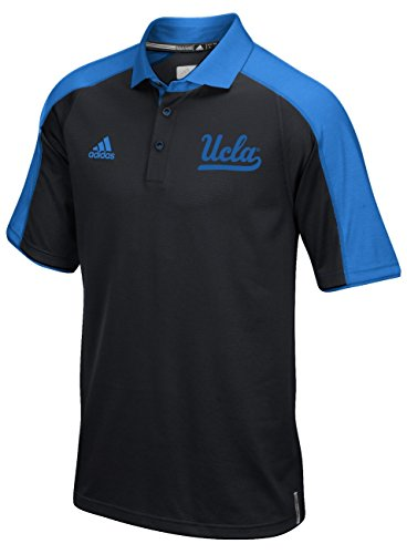 Adidas UCLA Bruins Black 2016 Football Coaches Sideline Climalite Polo Shirt (L/44) (Polo Sideline Adidas Shirt)