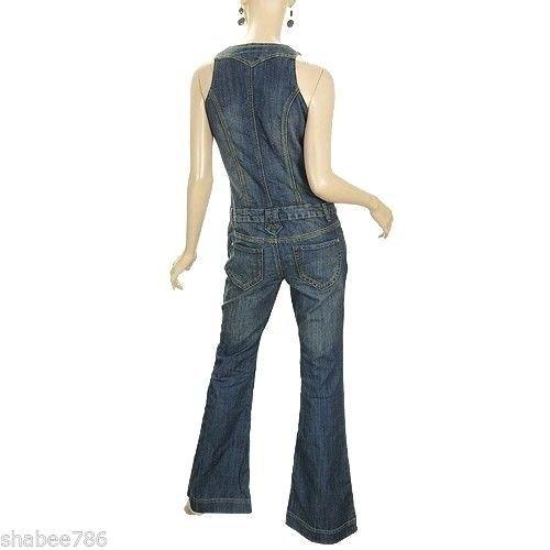 3c96b999e17b Amazon.com  Vanilla Star New Womens Jumpsuit 70 s Vintage Overalls Jeans Lot  z23 XS S M L XL(XL)  Clothing