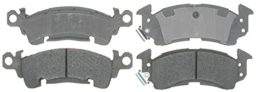 (ACDelco 14D52M Advantage Semi-Metallic Front Disc Brake Pad Set with Wear Sensor)