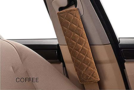 Car Seatbelt Cover ANDALUS Seat Belt Covers for Adults 4 Pack Universal Soft Comfortable Gray