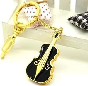 Wewdigi Reall 16GB Capacity Shiny Crystal Diamond Violin USB Flash Drive with Necklace +Gift Box