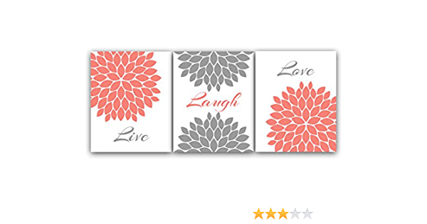 Coral And Gray Wall Decor from images-na.ssl-images-amazon.com