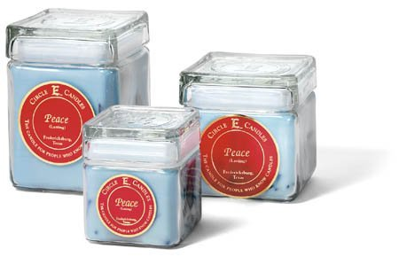 28oz Circle E Candles Peace. This Candle Combines the Gentle Smells of a Tropical Garden and the Sensual Breezes of the Ocean. Relax and Enjoy Walking Through a Peaceful, Tropical ()