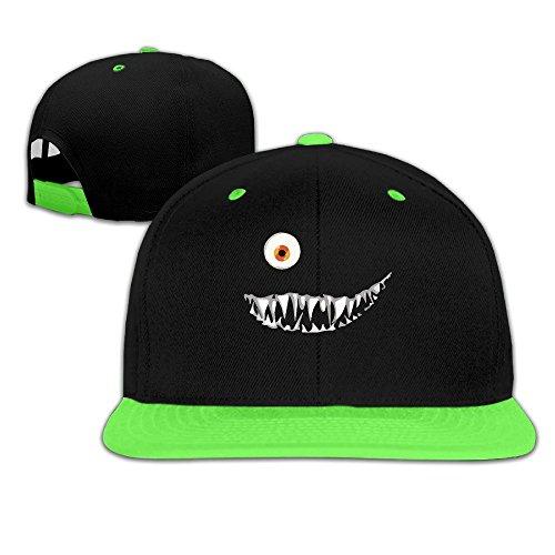 Toddler Mike Monsters Inc Contrast Color Flat Brim Hat (Flat Bill Hat Monster)