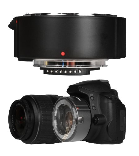 Bower SX4DGS DGII Digital Autofocus 2x Teleconverter Lens for Sony Alpha and Minolta Maxxum DSLR Cameras Black