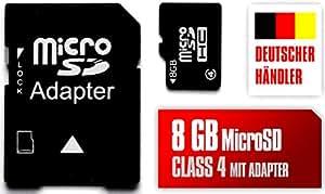 8GB Tarjeta De Memoria MicroSD Y MicroSD Al adaptador SD Para Samsung Galaxy S Duos S7562