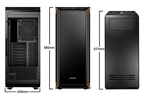 be quiet! BGW10 DARK BASE PRO 900 ATX Full Tower Computer Chassis - Black/Orange by be quiet! (Image #2)