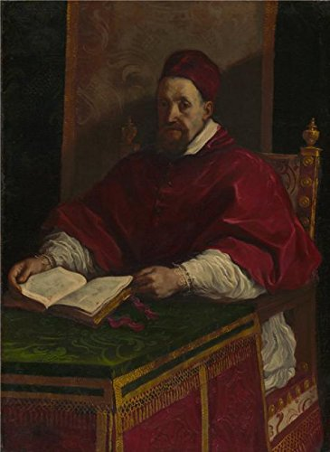 Oil Painting 'Pope Gregory XV, About 1622 - 1623 By Guercino Giovanni Francesco Barbier', 12 x 16 inch / 30 x 42 cm , on High Definition HD canvas prints, Game Room, Hallway And Kitchen Decoration