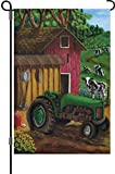 A smiling eye 51345 Garden Illuminated Flag, Tractor on The Farm, 12 by 18-Inch