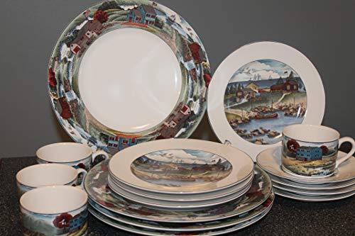 Bay Noritake - Noritake EPOCH Exclusives Pioneer Bay 16 pcs Dinnerware Set ~RETIRED