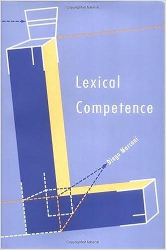 Spanisches Buch herunterladen Lexical Competence (Language, Speech, and Communication) 0262133334 PDF by Diego Marconi