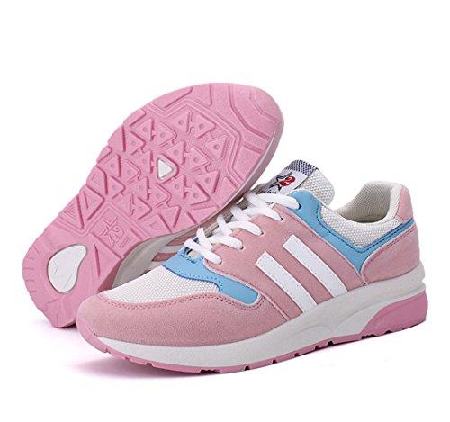 Zapatillas Rosa Unisex mogeek Calzado Adulto Running de Deportes Deportivo addqzZw