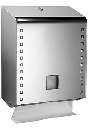 QTS Italy LSS22/CSB Dispensador de Toallas de Manos en Hojas, Acero Inoxidable: Amazon.es: Industria, empresas y ciencia