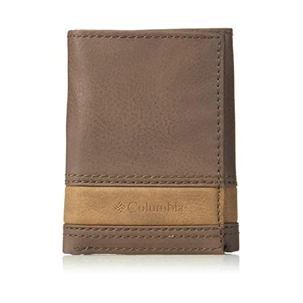 Columbia Men's RFID Leather Wallet – Big Skinny Trifold Vertical Security...