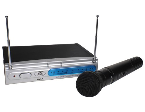 Peavey PV-1 V1 HH 203.400MHZ VHF Series Wireless Handheld Microphone (Wireless Vhf Series Microphone Handheld)