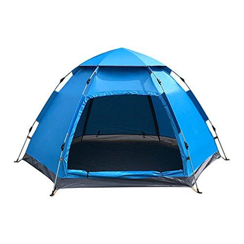 臨検戻す計画的マ?チョン テント 家族ダブルキャンプ防雨屋外キャンプテント (色 : Orange)