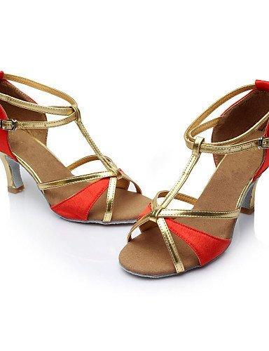 cuir Personnalisé Talon Personnalisables De Shangyi Danse Satin Chaussures Rouge Latin Noir Femmes Or Simili Or Brun p8nxvwzanq