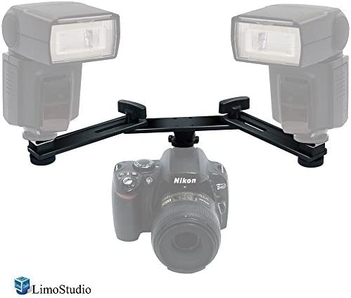 AGG2315 LimoStudio Photography Studio 5 Mount Bracket Arm with 2 Cold Shoes for Camera Video Flash LED Light