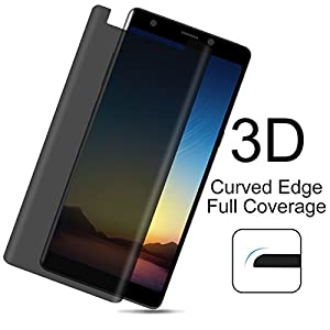 Samsung Galaxy Note 8 Screen Protector ,Toptrade Note 8 Premium Privacy 3D Curved Anti-Spy Tempered Case Friendly Glass Screen Film for Samsung Galaxy Note 8 (Transparent)