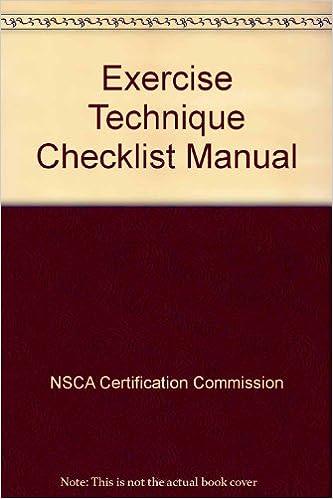 Exercise Technique Checklist Manual