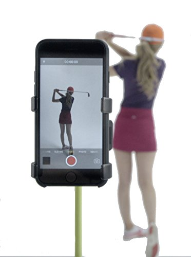 Record Golf Swing - Cell Phone Clip Holder and Training Aid by SelfieGOLF TM - Golf Accessories | The Winner of the PGA Best New Product of 2017 | Compatible With Any Smart Phone (Red/Black)