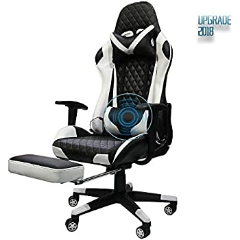 Insoria Gaming Chair Ergonomic High-Back Racing Chair Pu Leather Bucket Seat,Computer Swivel Office Chair Headrest and Lumbar Massage Support Executive Desk ...