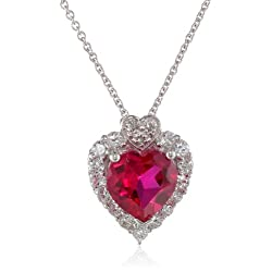Heart Pendant Necklace by Sterling Silver
