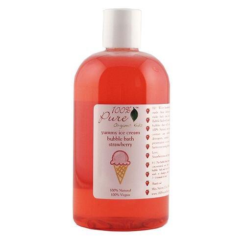 100% Pure aux fraises bio Enfants Bubble Ice Cream Bath