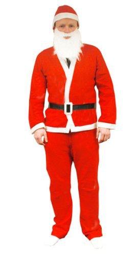 [5 Piece Adult Father Christmas Santa Suit Costume by Premier] (Premiere Santa Suit)