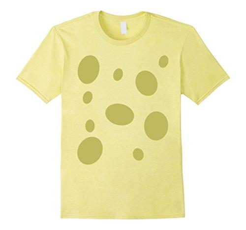 Sponge Costume (Mens Sponge Halloween costume t-shirt Medium Lemon)