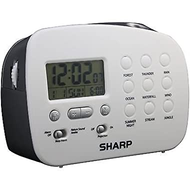 NEW Sharp SPC570 Projection Alarm Clock with Nature Sounds