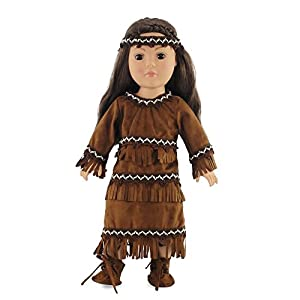 Amazon.com 18 Inch Doll Clothes/clothing Fits American Girl u2013 Native American Outfit Fits Kaya ...