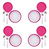 OXO Tot 4-Piece Feeding Set, Pink (4 Pack)