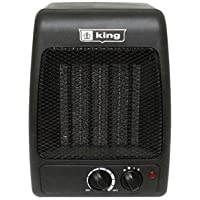 Compact Black Ceramic Space Heater | This 1500 Watt Space Saving Table Top Heater Fan is Perfect for Your Home Office Desk, Kitchen or Garage | Portable, Safe Over Heat Protection & Adjustable Thermostat | Stay Warm with this Modern Efficient Heater