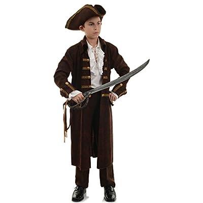 Boy's Brown Swashbuckling Sea Pirate Captain Bonedread Costume: Clothing