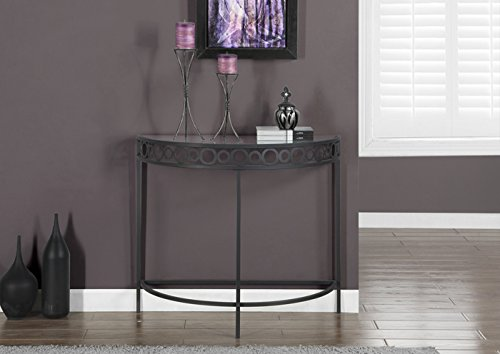 Monarch Specialties I 2121 Charcoal Grey Metal Hall Console Accent (36