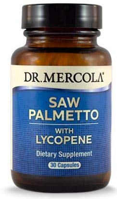 Dr. Mercola, Saw Palmetto with Lycopene, 30 Servings 30 Capsules , Helps Support Prostate and Overall Health, non GMO, Soy-Free, Gluten Free