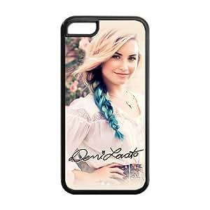 Fayruz- 5C Phone Cases, Demi Lovato Protective Hard TPU Rubber iPhone 5C Case Cover E-i5R46