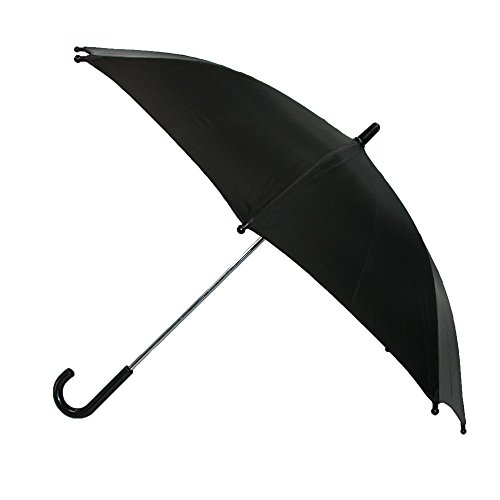 CTM Kids Solid Color Stick Umbrella, Black