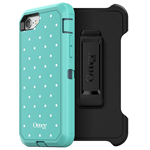 Price comparison product image OtterBox DEFENDER SERIES Case for iPhone 8 & iPhone 7 (NOT Plus) - Frustration Free Packaging - MINT DOT (TEMPEST BLUE / AQUA MINT / MINT DOT GRAPHIC)