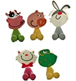 DOOPOOTOO Antibacterial Toothbrush Suction Cup Cover Holder with Suction Cup, Animal, 5Pack
