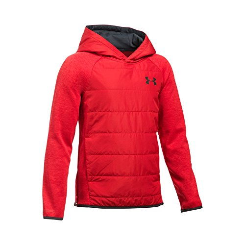 Under Armour Boys' Storm Insulated Pullover Swacket, Red/Red, Youth Medium
