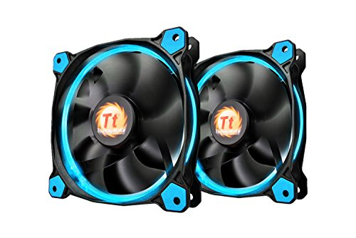 thermaltake-riing-120mm-blue-led-ultra-quiet-high-airflow-computer-case-fan-twin-pack-cl-f047-pl12bu
