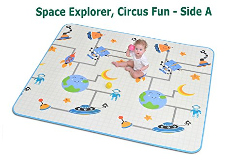Little Lifehacks Baby Play Mat Foam Floor Mat Rug Activity Gym for Crawling   Unique Design   Extra Large (78.7×70.9×0.6″) Thick Reversible Non Toxic Safe Waterproof   Great Baby Shower Gift Review